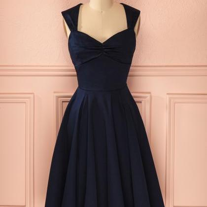 Straps A-line Satin Homecoming Dres..