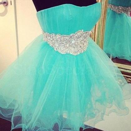 Blue Tulle Homecoming Dresses with ..
