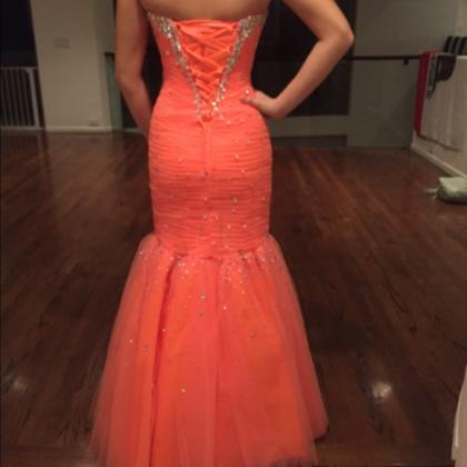 Sexy Mermaid Tulle Prom Dresses Swe..