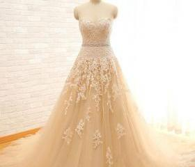 Champagne Tulle Lace..