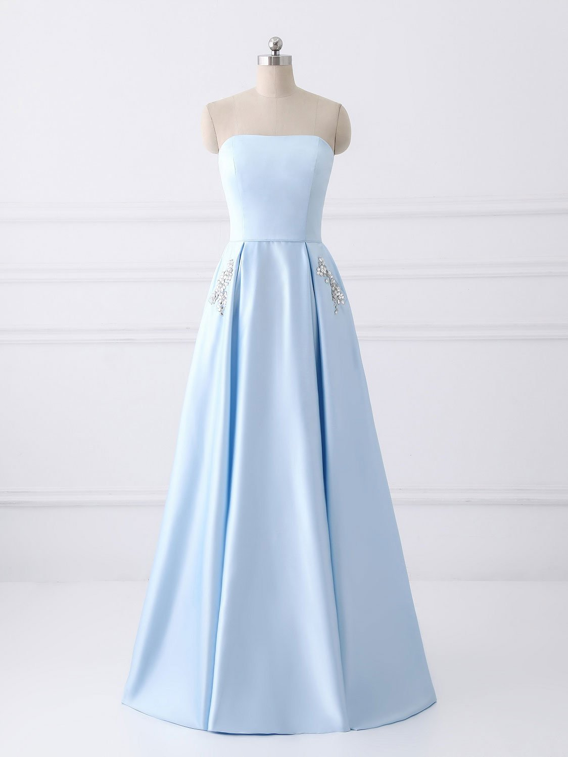 55b85997b98 Light Blue Strapless Party Dress - Gomes Weine AG