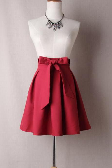 Red Satin Tutus Skirt Bow ties TT02