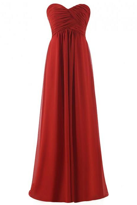 Cheap Chiffon Long Women Bridesmaid Dress for Wedding Different Neckstyles
