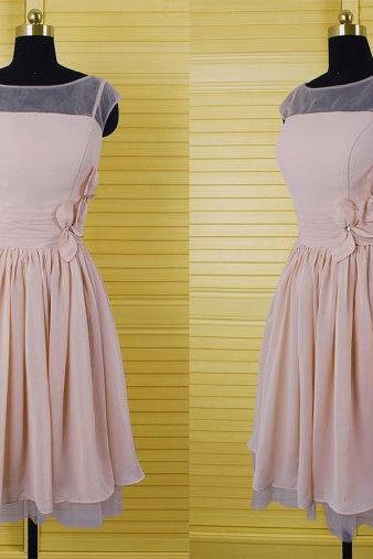 Simple Short Chiffon Bridesmaid Dresses, Homecoming Dresses