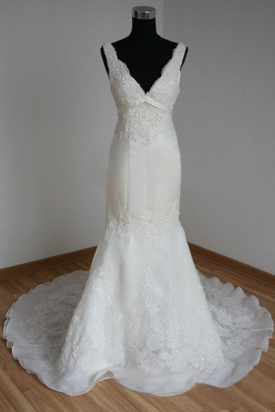 Wedding Dresses Mermaid Lace Appliques Beads Bridal Gowns