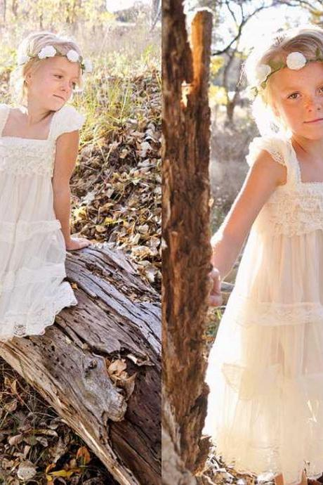 Lovely Tulle Flower Girl Dresses Charming Children Dresses for wedding party dress