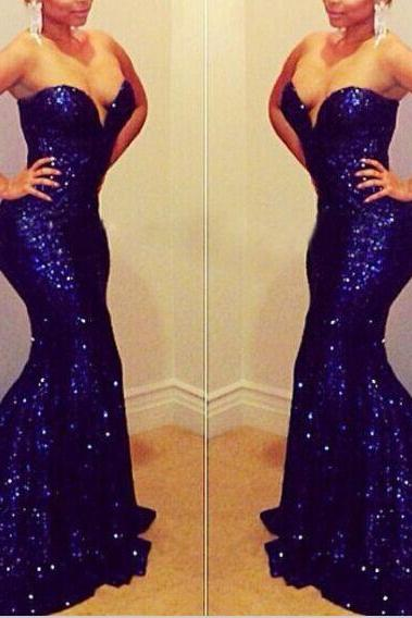 Purple Sequin Lace Prom Dresses, Mermaid Prom Dresses, Sweetheart Neck Party Dresses