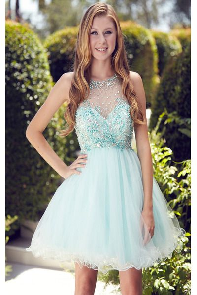 Lovely Short Tulle Homecoming Dresses Crystals Beaded Women Party Dresses