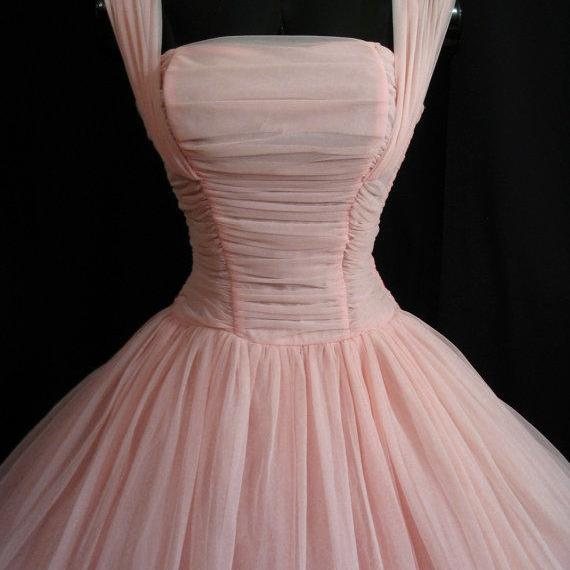 Short Pink Tulle Prom Dresses Straps Mini Pleat Women Party Dresses