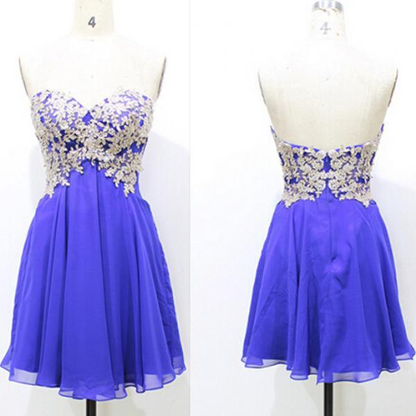 Sweetheart Short  Purple Homecoming Dresses Above Knee Mini Dress