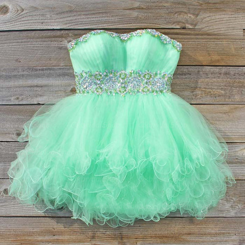 Short Lovely Tulle Cocktail Dresses, Sweetheart Neck Crystals Homecoming Dresses Mini Crystals Party Dresses