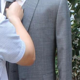 Single Breasted Grey Men Suit